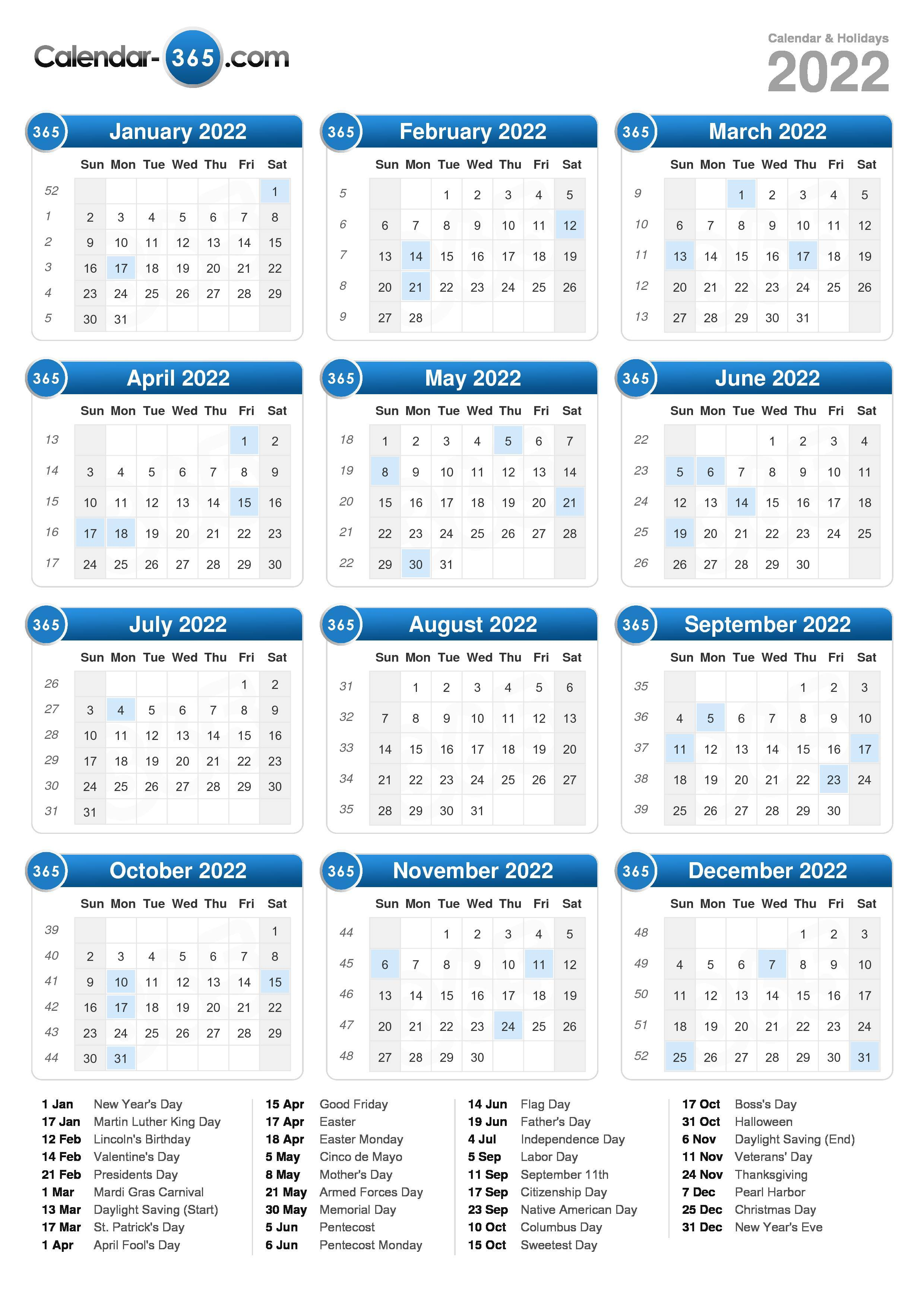 graphic regarding 2022 Calendar Printable named 2022 Calendar