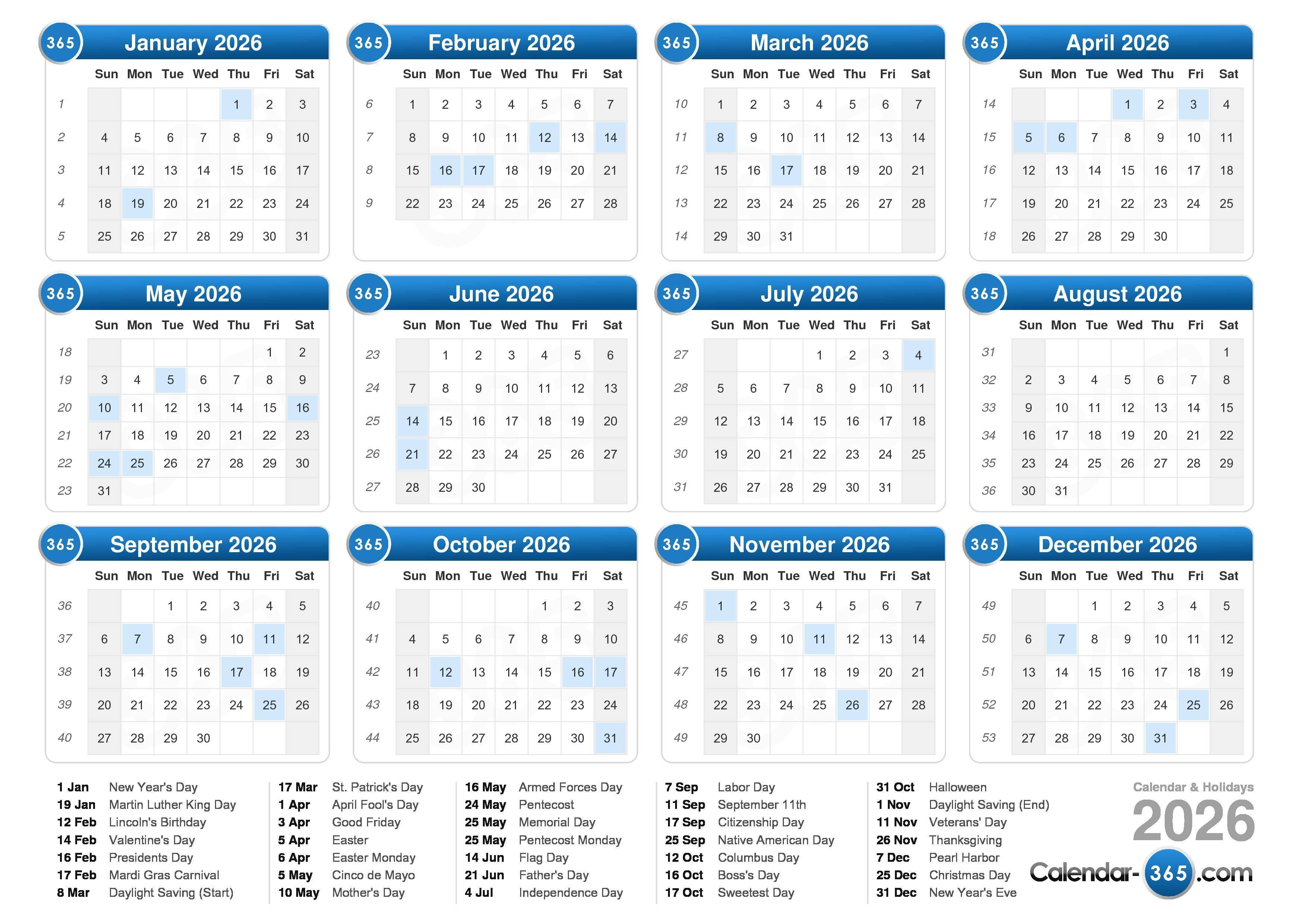 August 2026 Calendar 2026 calendar
