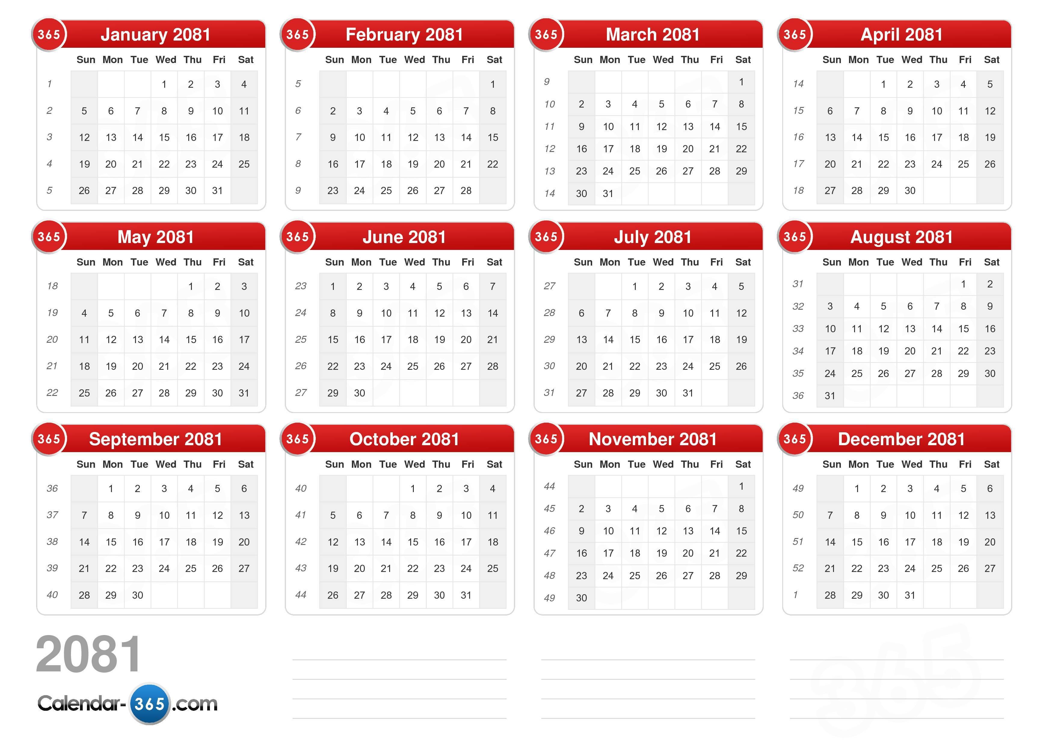 2081 Calendar (v2)