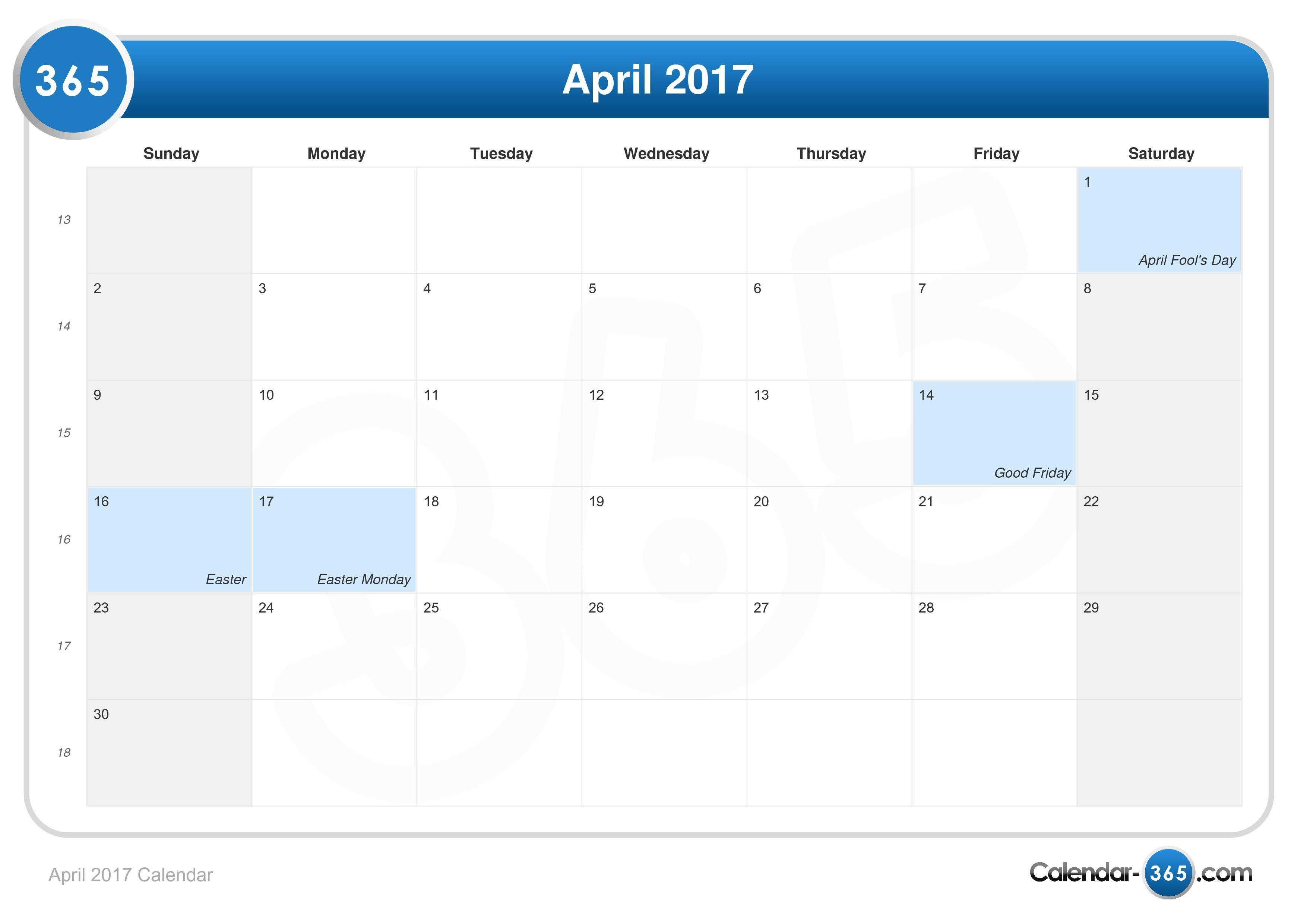 2017 Calendar With Holidays | Calendar Template 2016