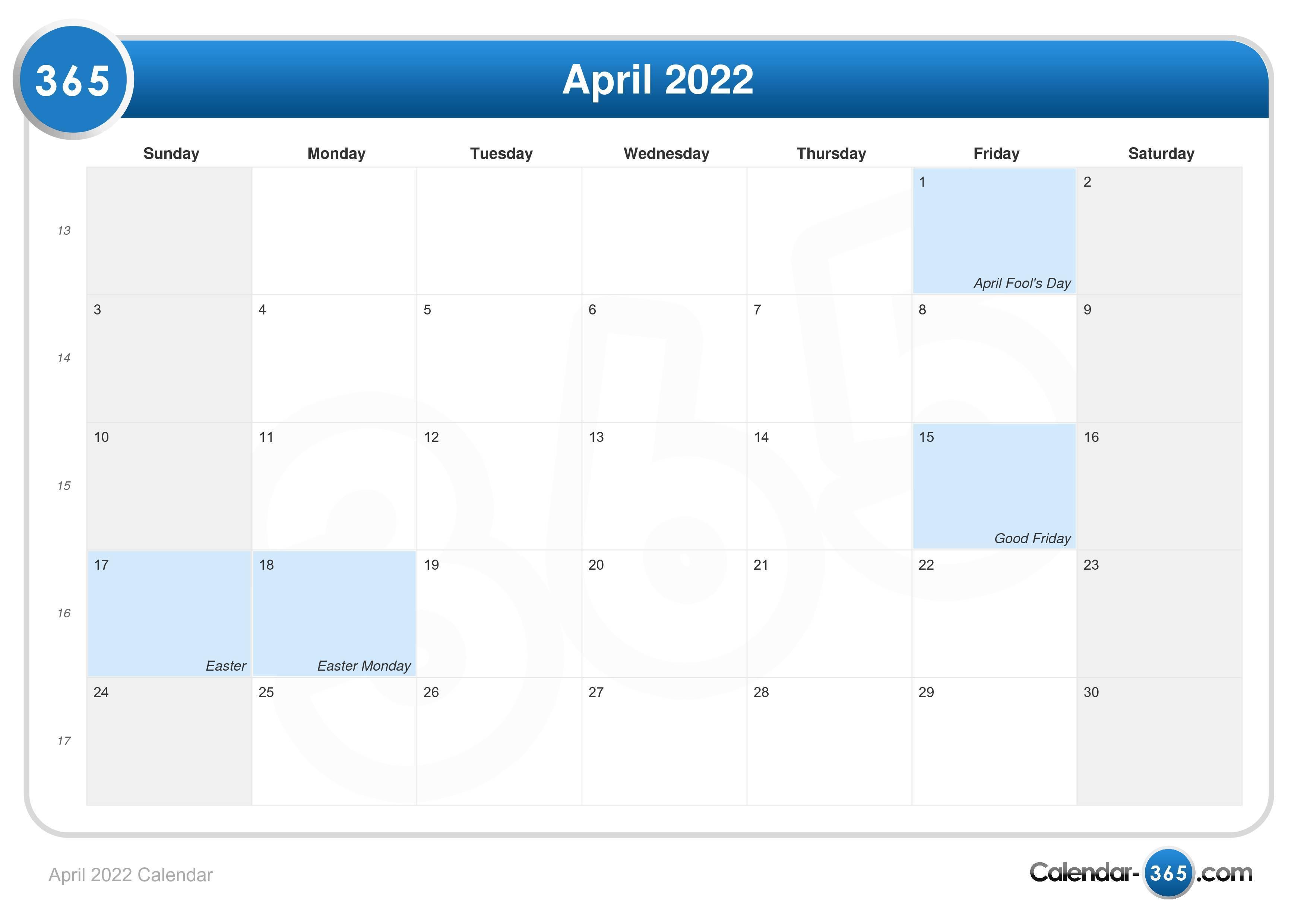 Huntsville City Schools Calendar 2022 23.April 2022 Calendar