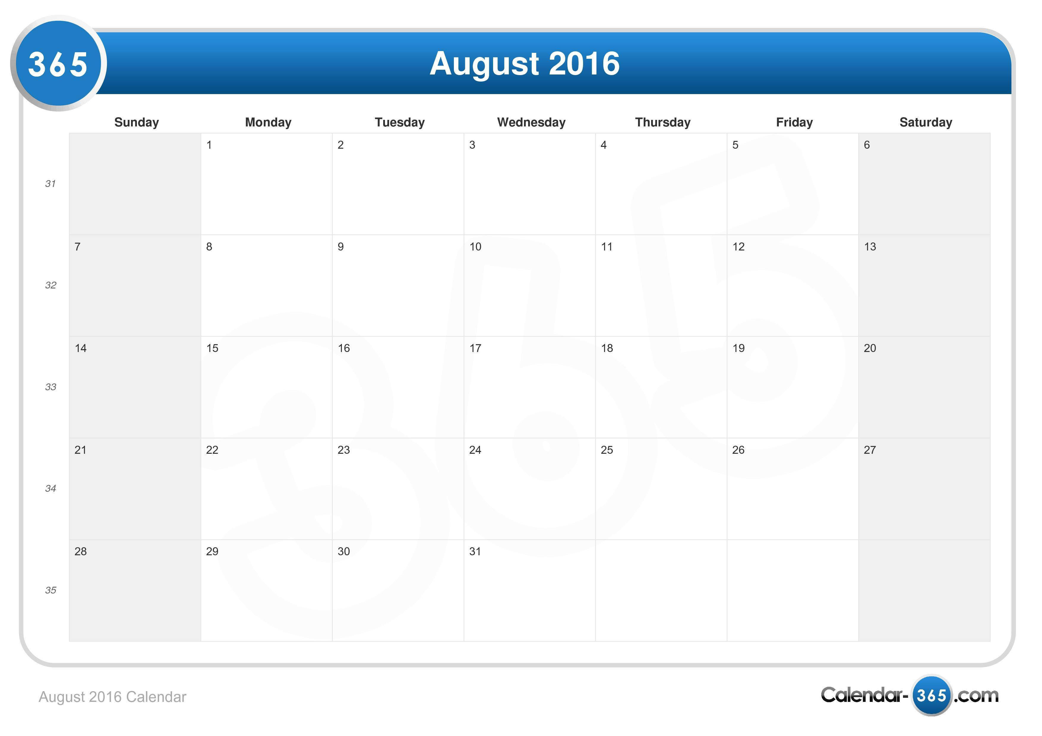 Irvine School District Calendar 2016 August Calendar