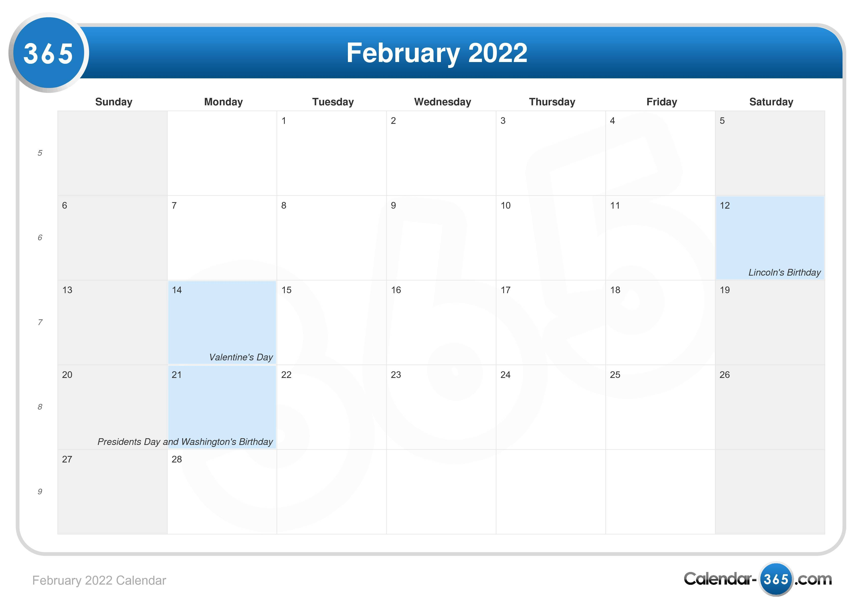 Moon Calendar February 2022.February 2022 Calendar