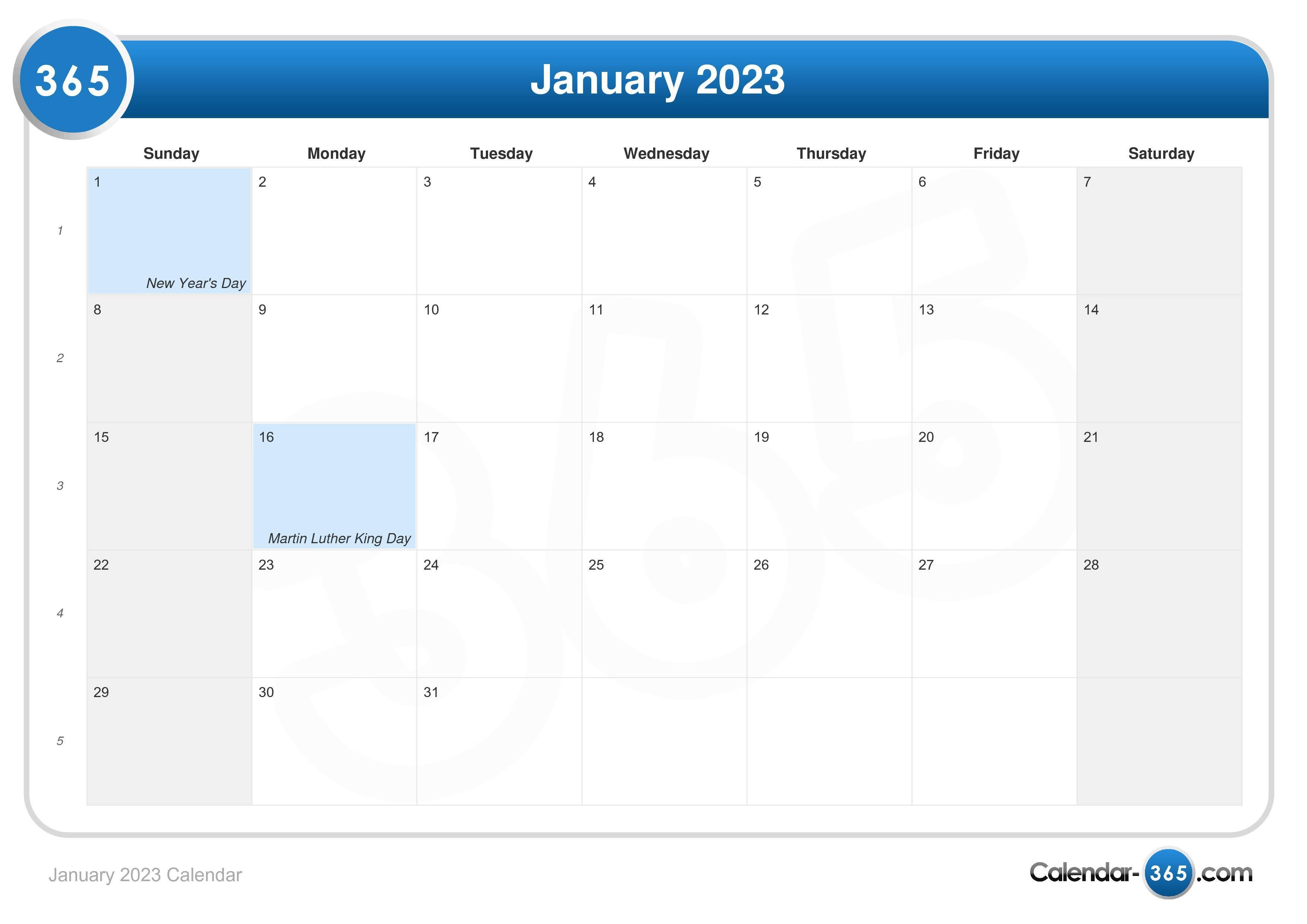 Calendar December 2023 January 2022.January 2023 Calendar