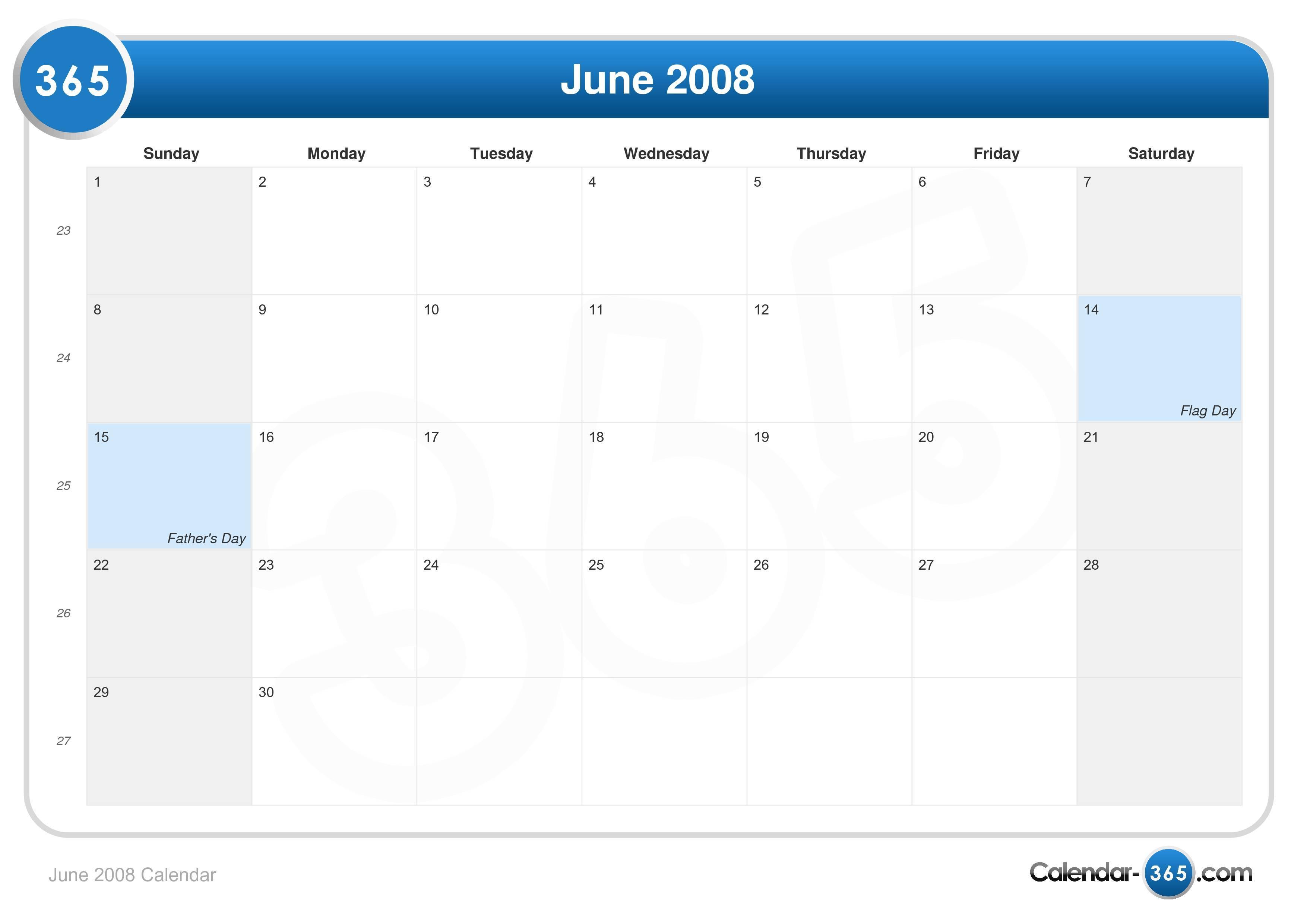 Calendar View June : June calendar
