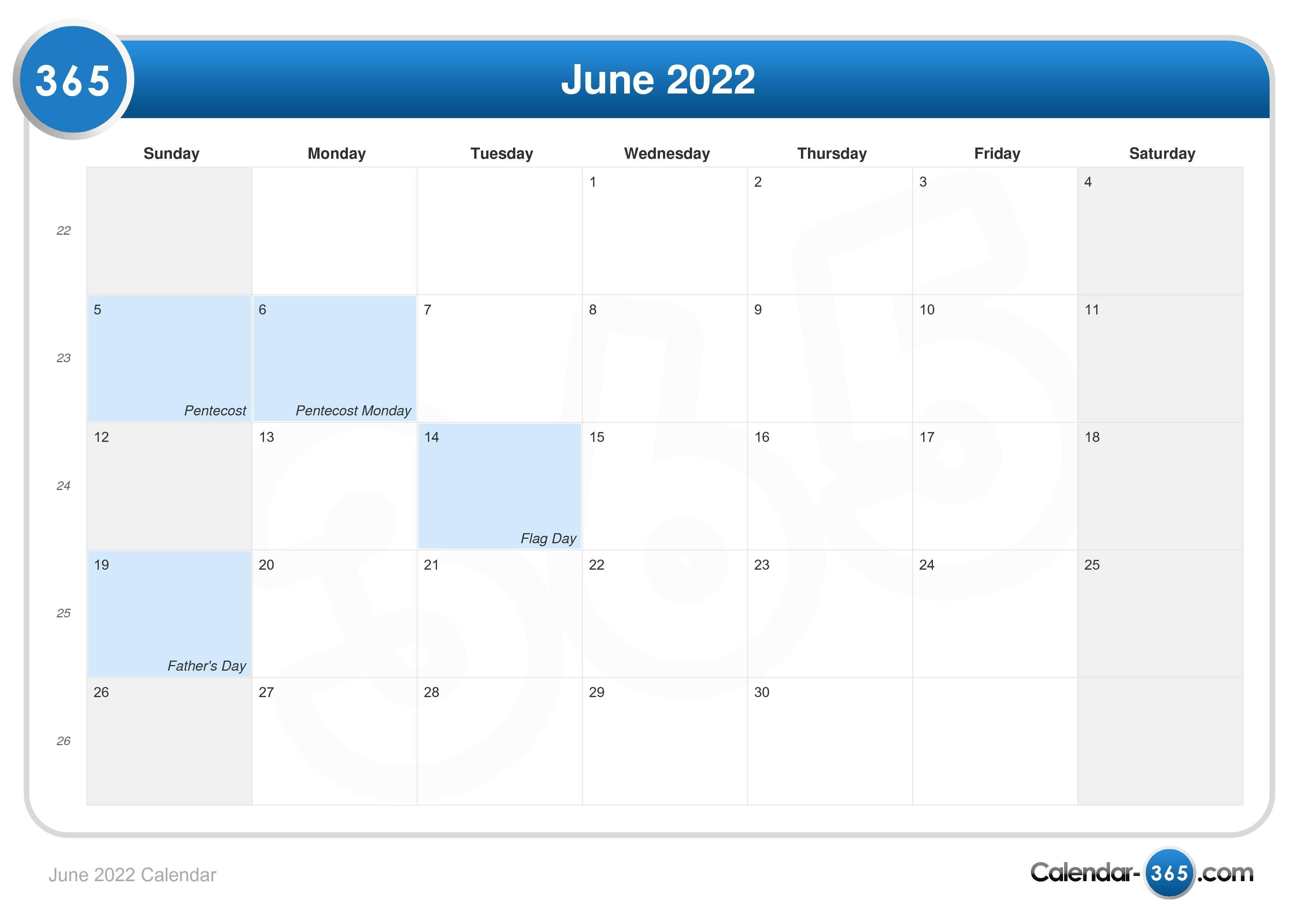 Calendar 2022 June July August.June 2022 Calendar