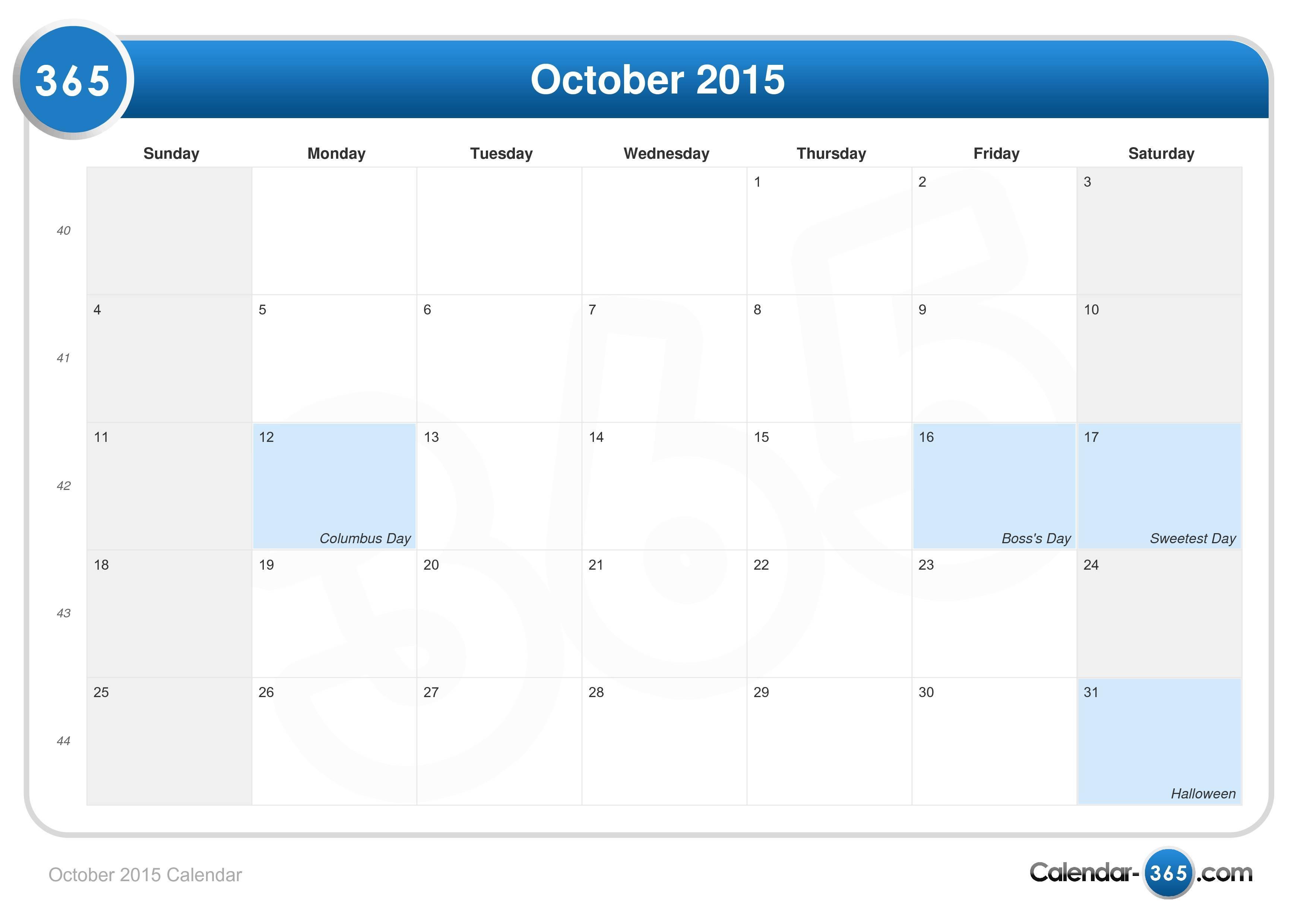 10.624 October 2015 Calendar