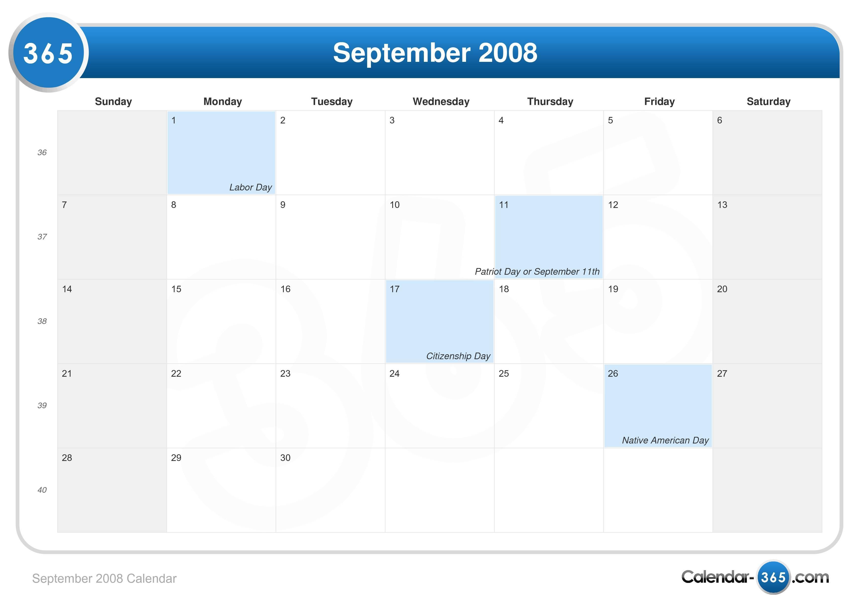 2008 Free Printable Calendars - Free Printable Calendars
