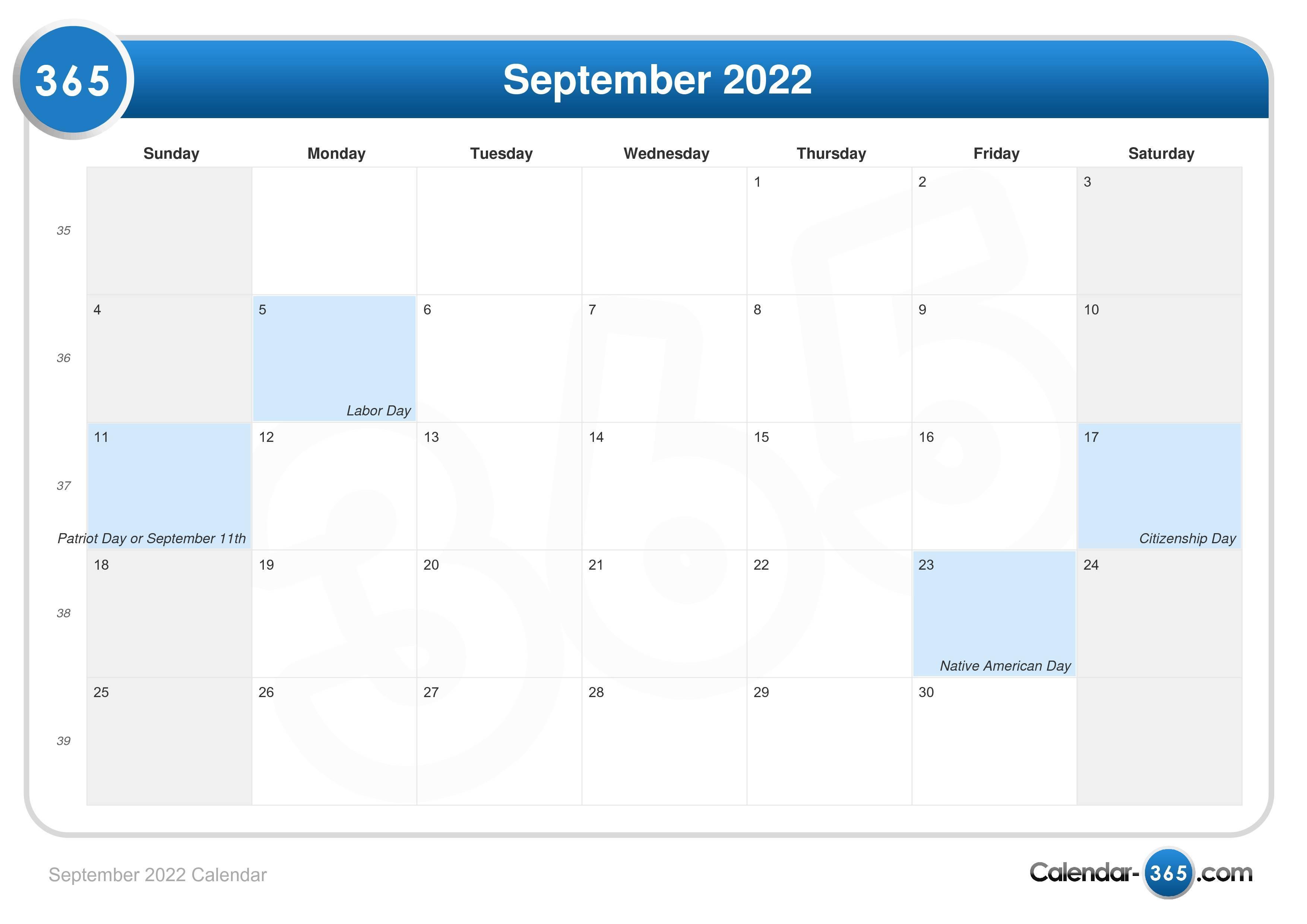 Moon Calendar September 2022.September 2022 Calendar